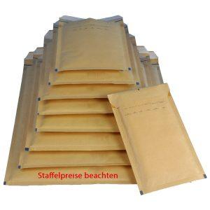 Luftpolstertasche, 100 Stück, Größe 5 braun